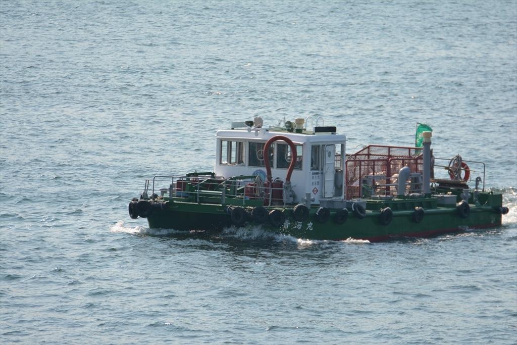 海洋清掃船の青海丸