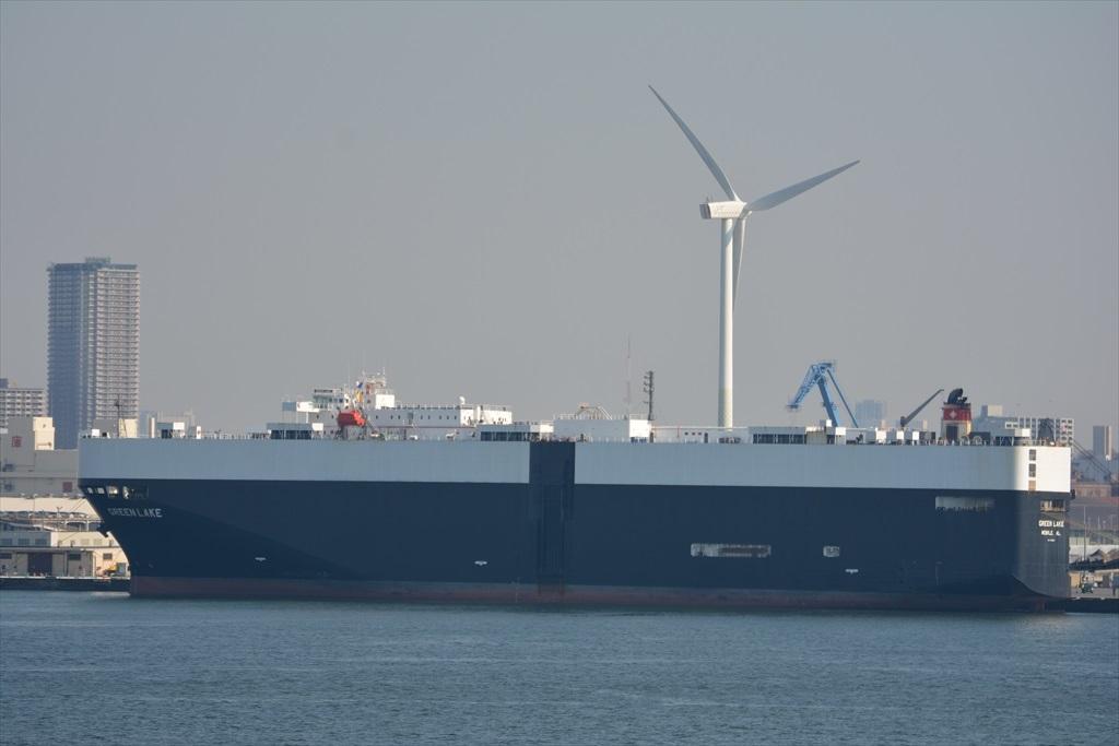 自動車運搬船のGREEN LAKE