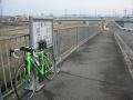 170218川西大橋で自転車道が尽きた