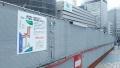 170408梅田の阪急前歩道橋も工事中