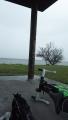 170415草津市志那の湖岸駐車場で雨宿り