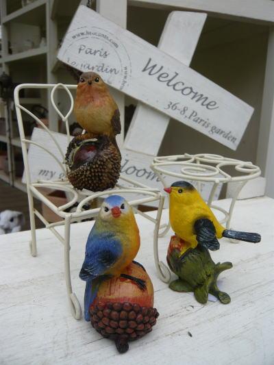 ブログ0225森の仲間たち小鳥オーナメントS A