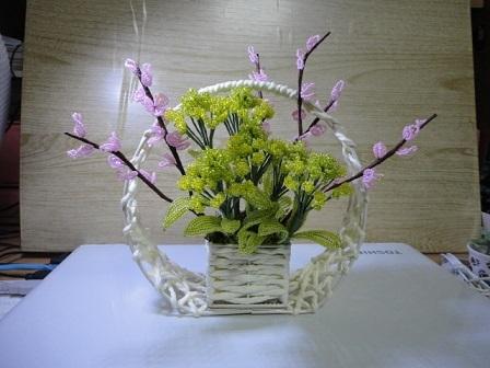 桃と菜の花⑤