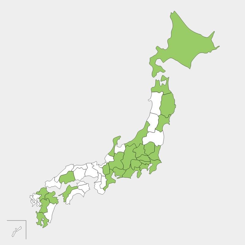 日本地図塗りつぶし