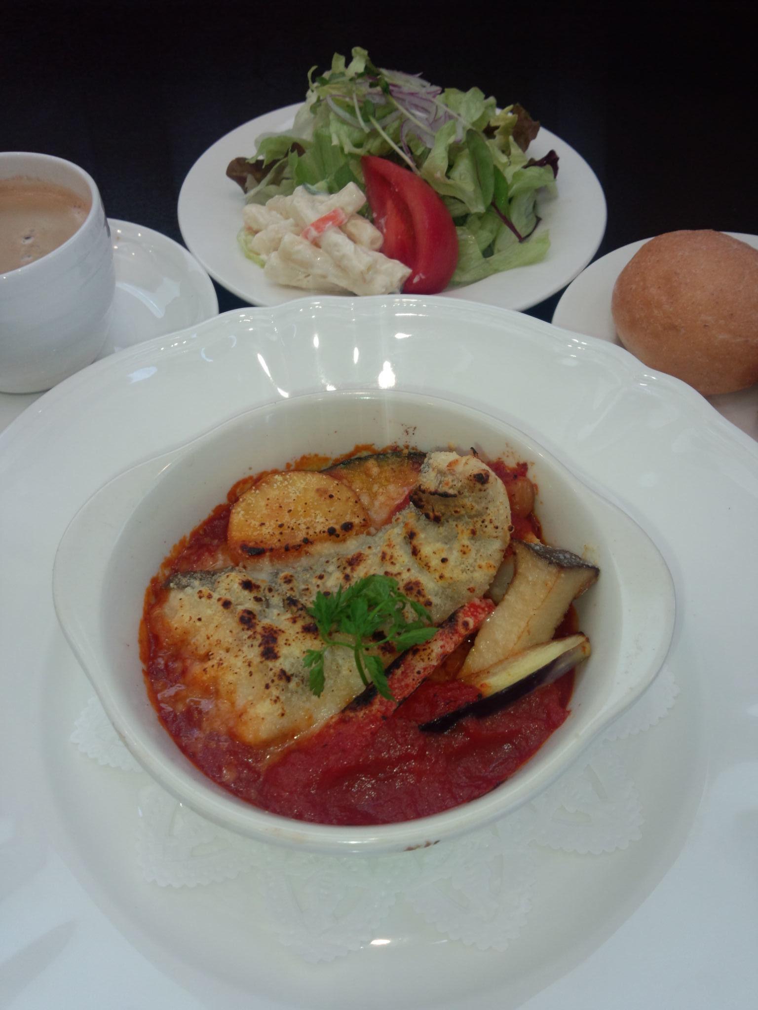 真鱈とひよこ豆のオーブン焼きトマトソース_20131130