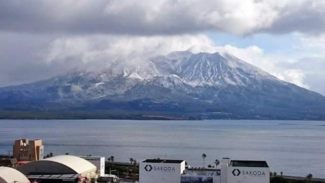 桜島冠雪3