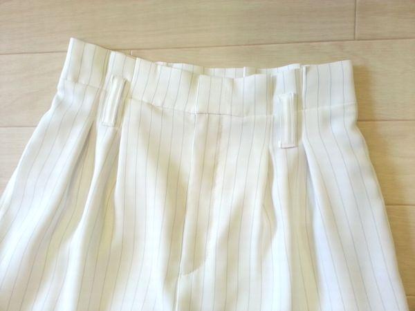リメイク白ストライプワイドパンツ2