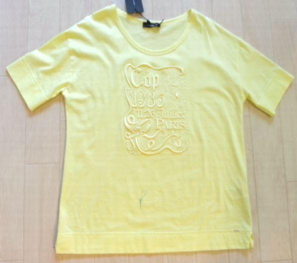 COPイエローTシャツ丈&襟ぐり2