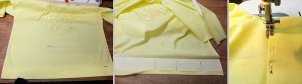 COPイエローTシャツ丈&襟ぐり3