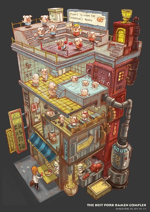 豚骨ビルディング-Bangzheng Duさんの作品
