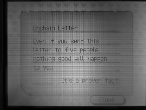 UNCHAIN LETTER-アンチェイン・メール