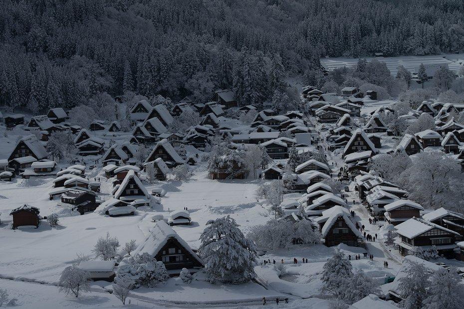 2017.02.10白川郷を俯瞰1