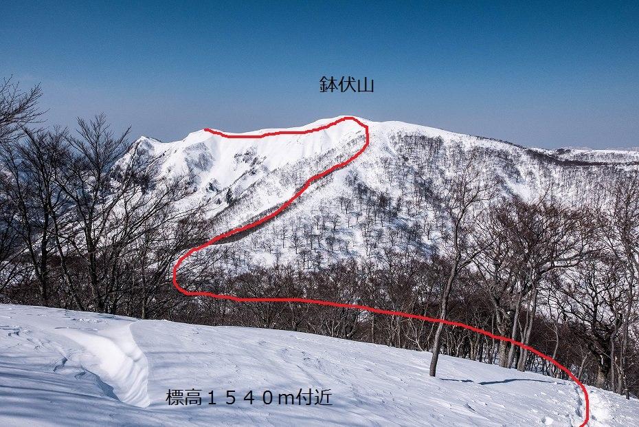 2017.03.04大長山_鉢伏山から大長山直前まで8