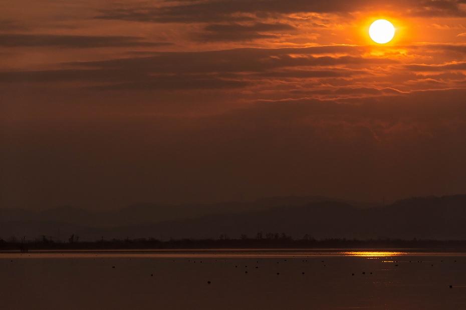 2017.03.30河北潟からの日の出7