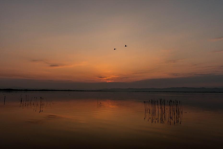 2017.03.30河北潟からの日の出2
