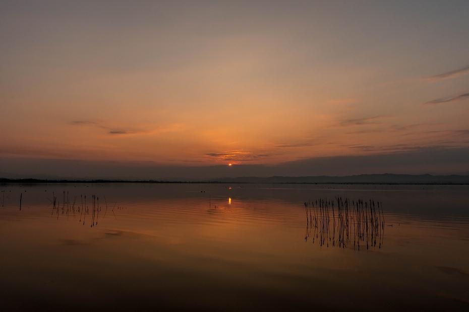 2017.03.30河北潟からの日の出3