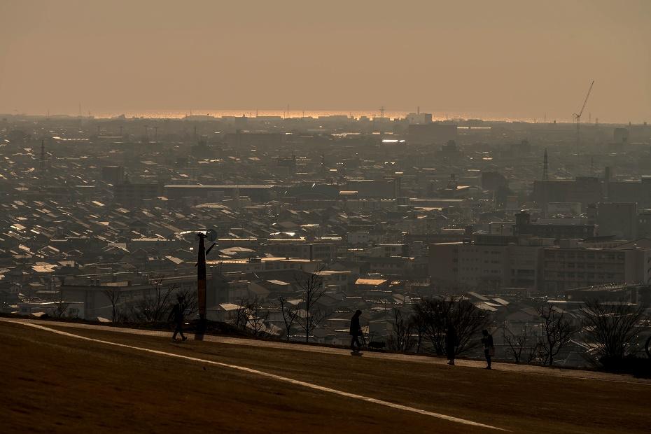 2017.04.04大乗寺丘陵公園の夕景1