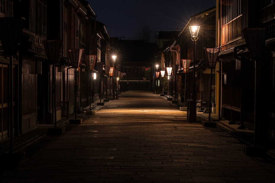 2017.04.10ひがし茶屋街の夜景1