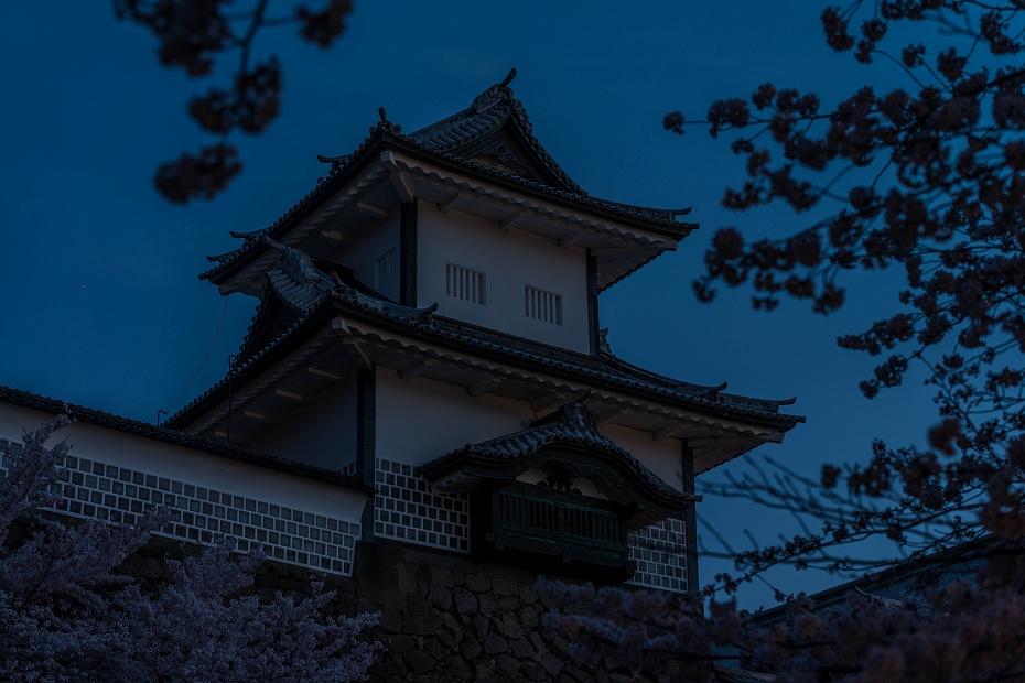 2017.04.10夜明けの金沢城5