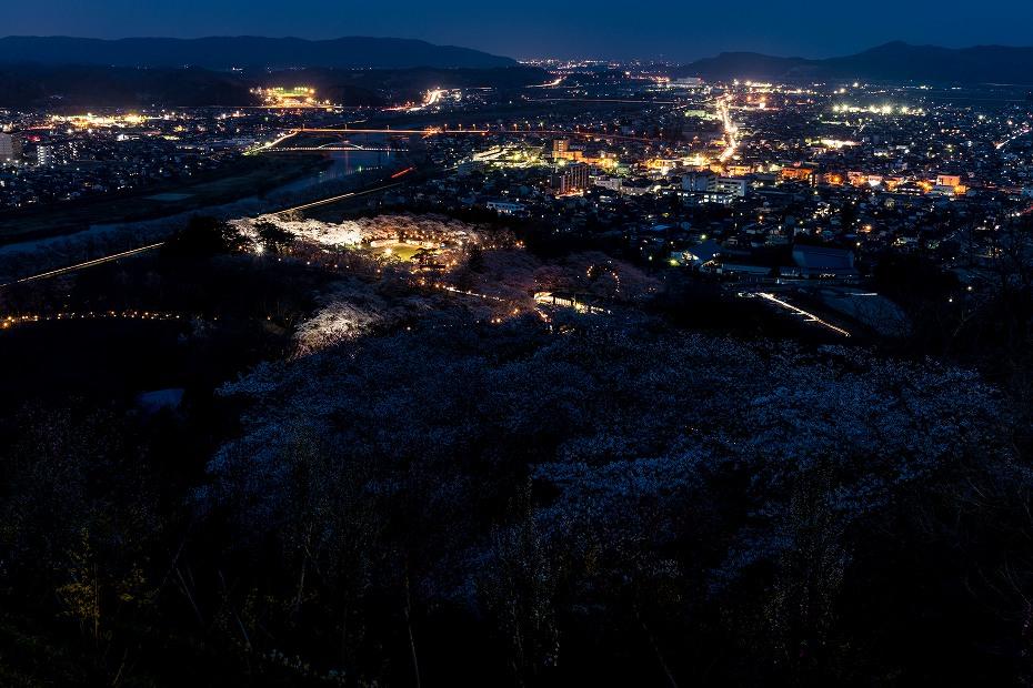 2017.04.14船岡城址公園からの夕景5