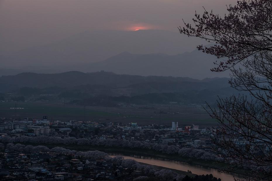 2017.04.14船岡城址公園からの夕景2