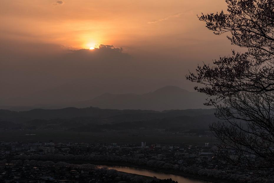 2017.04.14船岡城址公園からの夕景1
