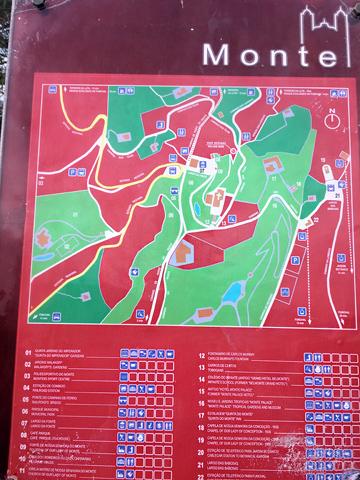 モンテ地図看板
