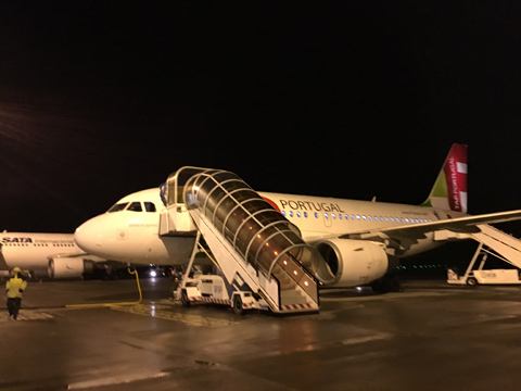 初!ポルトガル航空搭乗