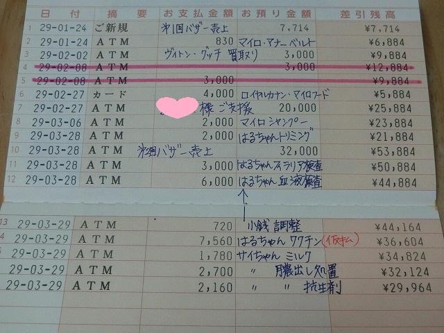 3月末収支報告 001