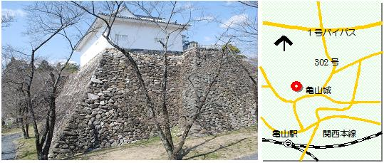 亀山城マップ