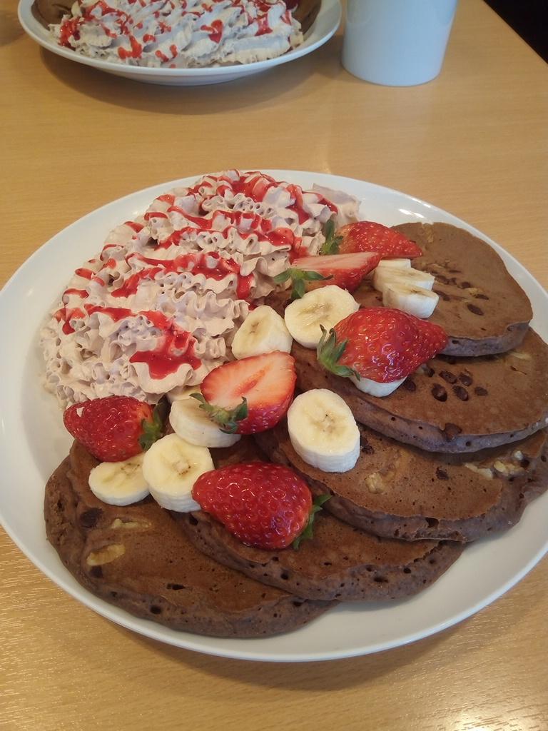 バレンタインのパンケーキ