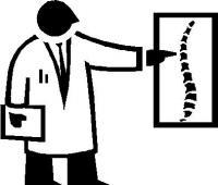 ドクターと脊椎イラスト