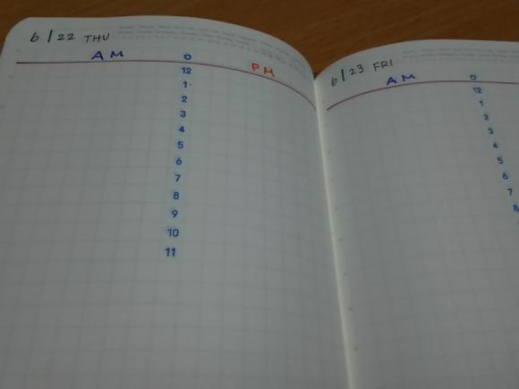 ニトムズノートに時間軸をスタンプ