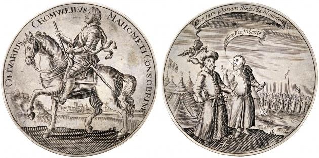 オリバークロムウェルのメダル