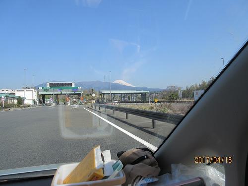 いいお天気と富士山