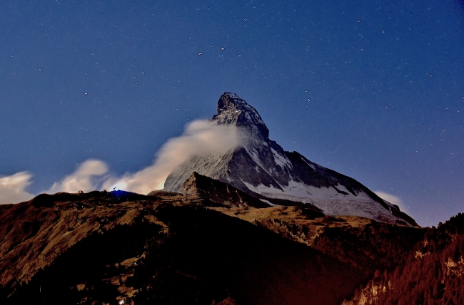 Night Matterhorn from Balcony 2