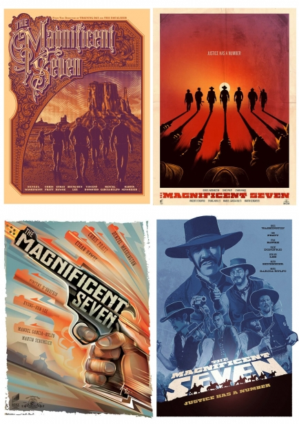THE MAGNIFICENT SEVEN FAKE POSTER ALT