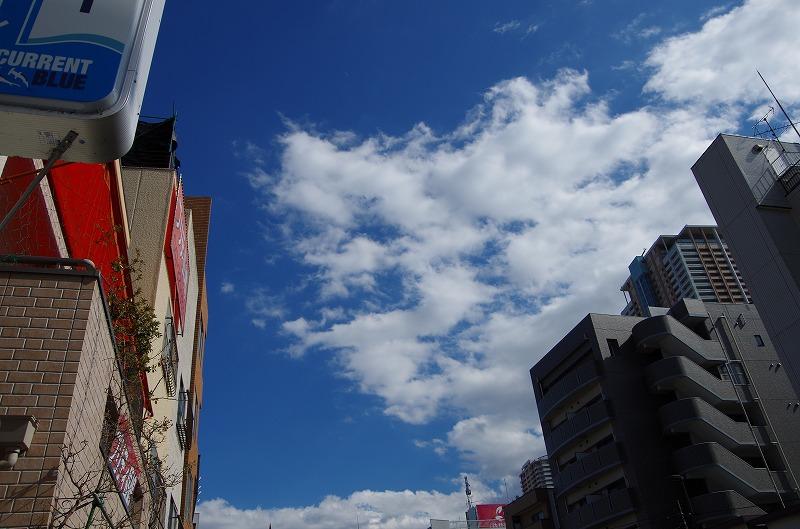 市川の空青空ブルースカイ