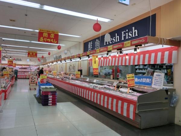 1階鮮魚対面