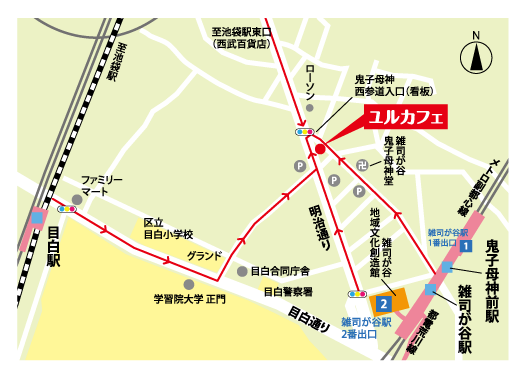 yurucafe地図