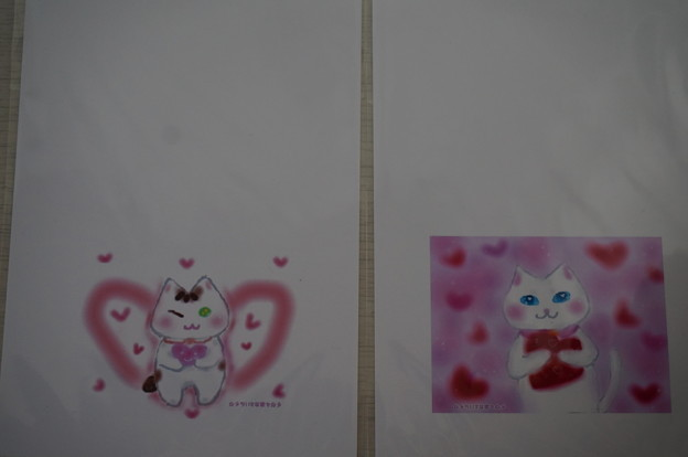 チュチュちゃんと梅子さんのイラストはがき