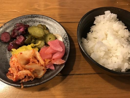 ご飯と漬物