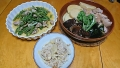 たけのこご飯 こごみと鶏肉の炒め物 筍の煮物 20170415