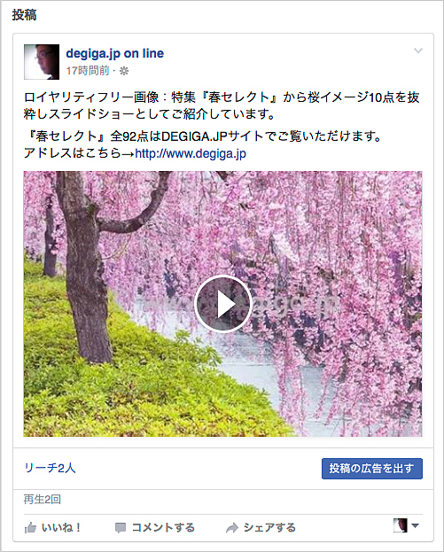 春イメージのスライドショー