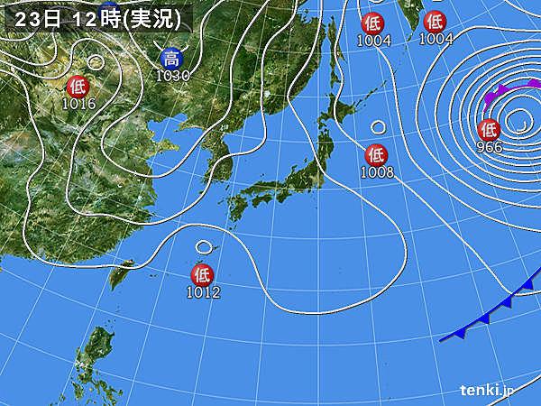3月23日12時の天気図