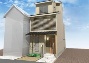 狭小住宅,注文住宅,和風モダン,うなぎの寝床,通り土間