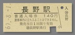 600801_長野駅入場券