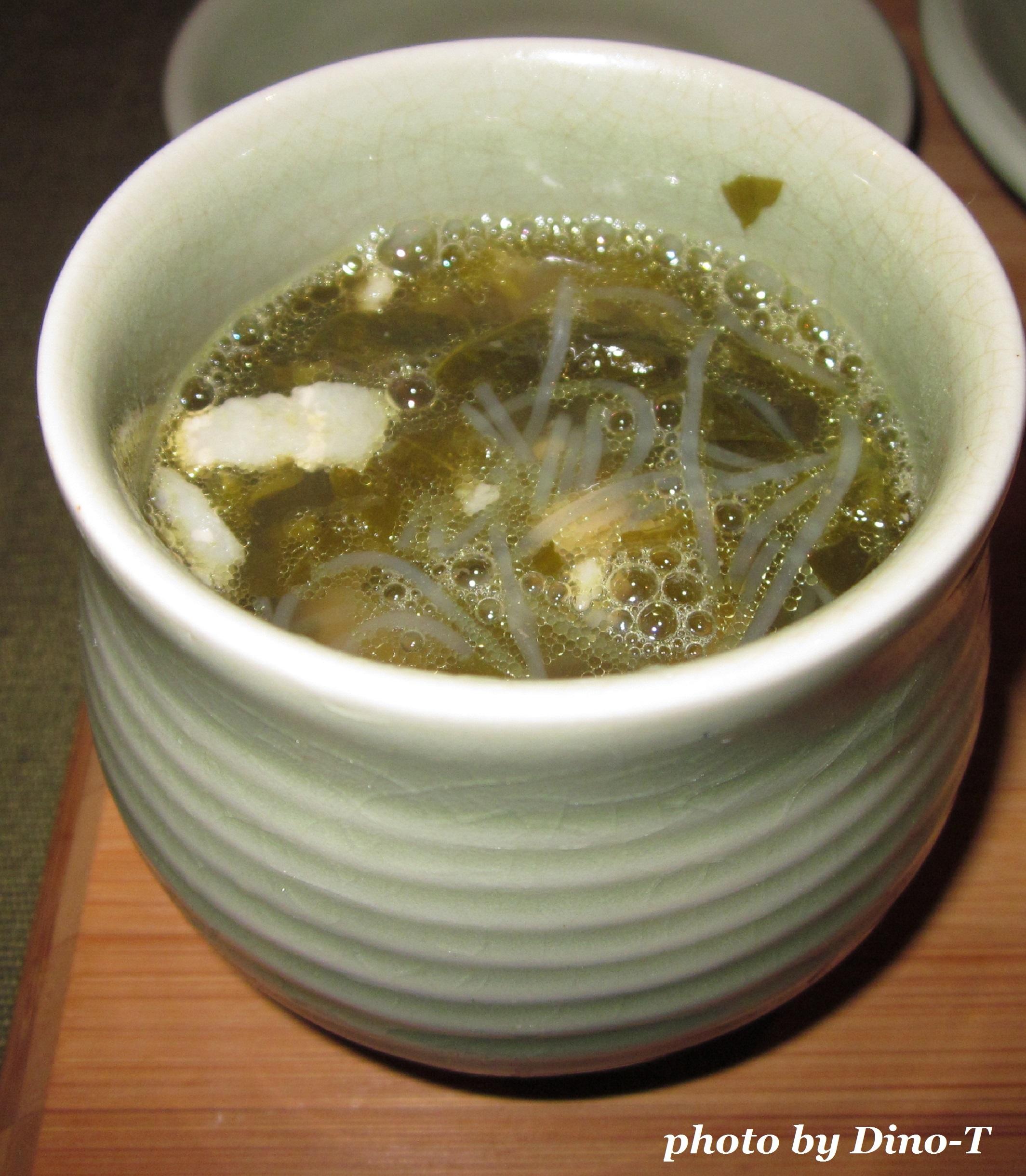 高菜と豚肉の塩チャプチェスープ1