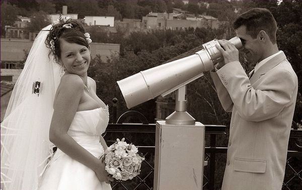 面白い結婚式写真