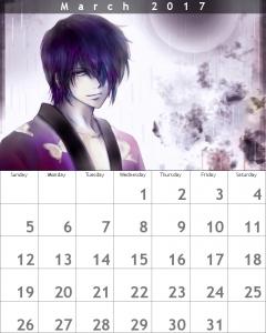 3月 カレンダー 高杉晋助